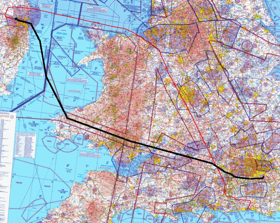 Actual outbound track is here (plotted over an old UK CAA chart background)