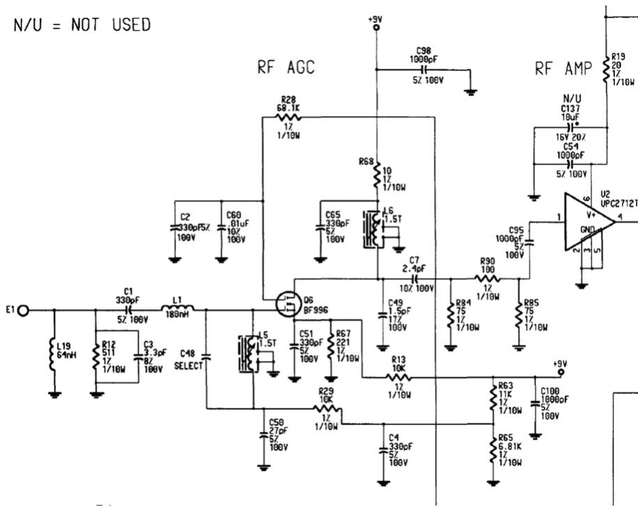 how to protect this uhf amplifier input